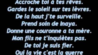 Soprano - Accroche toi a mes ailes (paroles)
