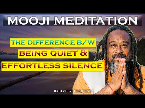 Mooji Guided Meditation: Being Quiet & Effortless Silence