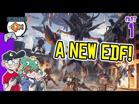 New Edf Game! Earth Defense Force: Iron Rain Gameplay Part 1