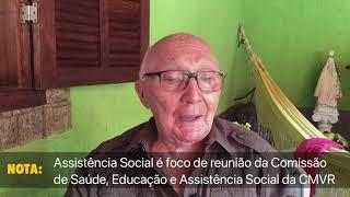 TMDR Nota 26/03/2021 - Assistência Social é foco de reunião da Comissão Permanente da Câmara