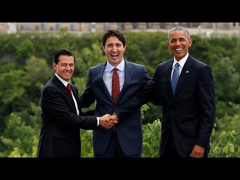 Καναδάς: Σημαντική συμφωνία για την κλιματική αλλαγή στη Σύνοδο των κρατών της Βόρειας Αμερικής