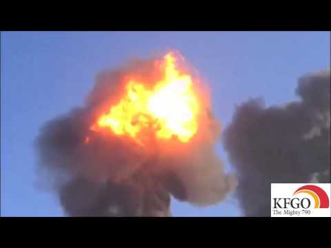 Video of one of the train explosions near Casselton sent in to the KFGO News Room by a KFGO listener
