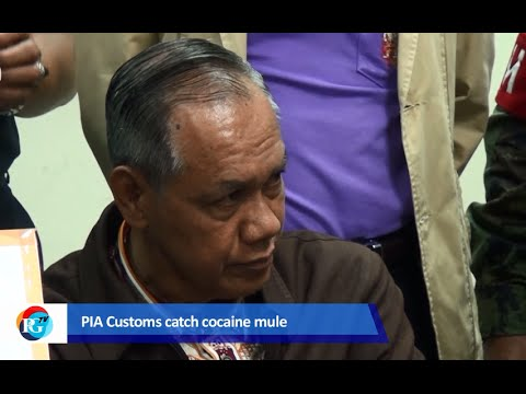 Indonesian Jemani Ikhsan was arrested at Phuket International for smuggling 5.2kg of cocaine into Thailand. Video: PGTV