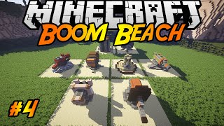 Boom Beach in Minecraft   Making of #4   Mortar, Machine Gun, Rocket Launcher, Shock Launcher