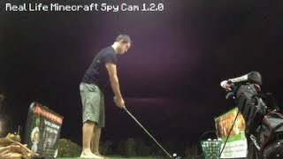 Real Life Minecraft - SLOW MOTION HAPPY GILMORE!!