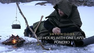 Video 60 h Winter Bushcraft - No Cordage A-Frame Bucksaw - One Lavvu Canvas Poncho - No Food MP3, 3GP, MP4, WEBM, AVI, FLV Februari 2019