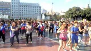 PSY GANGNAM STYLE flash mob in Barcelona SPAIN.