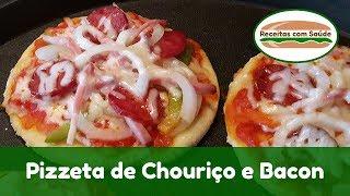 Pizzeta de Chouriço e Bacon