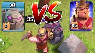 Video Clash Of Clans 😀 LVL 6 GOLEM Vs. Mr. KING!! 🔸 Death battle🔸 MP3, 3GP, MP4, WEBM, AVI, FLV Mei 2017