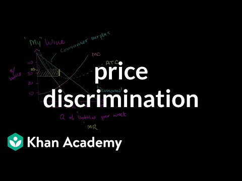 Price Discrimination Video Khan Academy