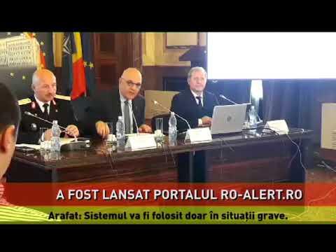 Portalul ro-alert.ro, dedicat sistemului de avertizare a populaţiei în situaţii de urgenţă, a fost lansat sâmbătă