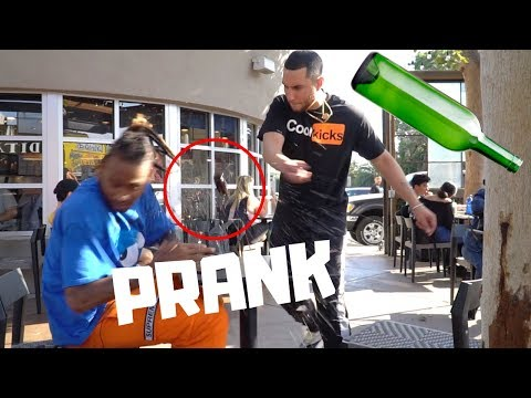 Breakaway Bottles Prank!!!!! (GONE WRONG!!!)