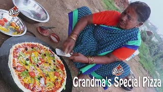 How To Make Pizza At Home || Grandma's Special Pizza || How To Make Pizza Without Oven