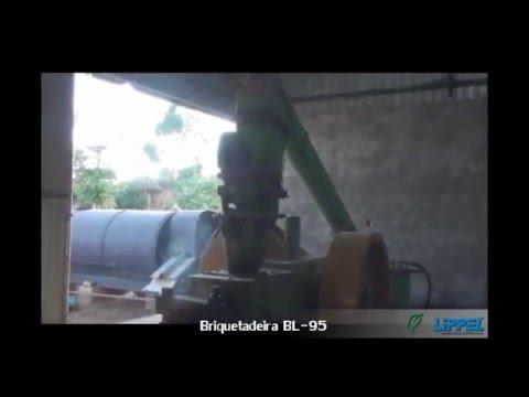 Briquetagem de Casca de Arroz com a Briquetadeira BL 95 - Briquetes Tocantins
