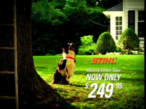 Stihl: Get The Job Done! Смешной ролик о цепной бензопиле