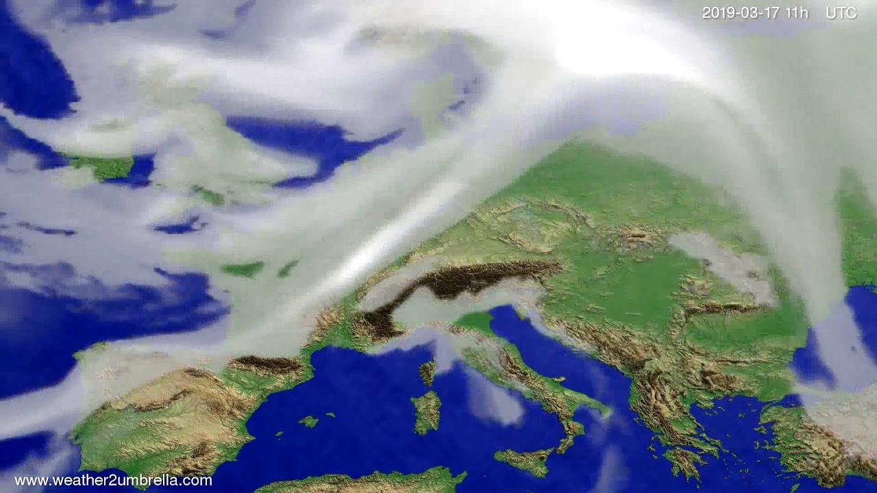 #Weather_Forecast// Cloud forecast Europe 2019-03-16