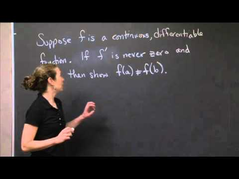 Mean value theorem | MIT 18.01SC Single Variable Calculus, Fall 2010