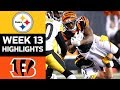 Steelers vs Bengals | NFL Week 13 Game Highlights
