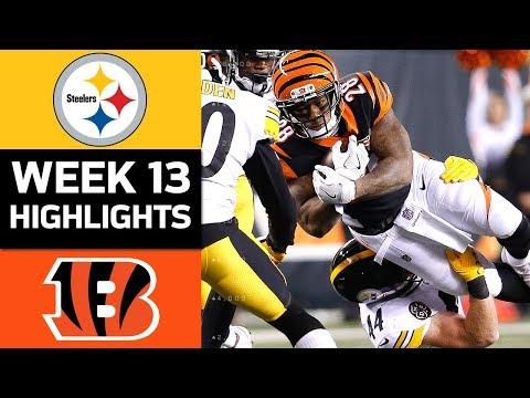 Steelers vs. Bengals  NFL Week 13 Game Highlights