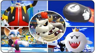 ►Mario and Sonic at the Olympic Winter Games (Wii) 2010 Vancouver►Playlist : https://goo.gl/HbB7It►Bosses in order :00:00 - King Boo (Alpine Skiing)02:50 - E-123 Omega (Speed Skating 500m)04:17 - Jet (Snowboard Cross)06:27 - Big Bullet Bill (Skeleton)08:31 - Rouge (Figure Skating)11:48 - King Boo (Giant Slalom)13:35 - Eggman Nega (Ski Cross)15:37 - Team Dry Bowser (Ice Hockey)20:49 - Big Bullet Bill (Bobsleigh)22:53 - E-123 Omega (Short Track Releay)25:05 - Dry Bones (Curling)►Twitter : http://Twitter.com/YTNintenU►Avatar Picture : http://ratchetmario.deviantart.com►Game Informations :Developer : Sega, Racjin / Nintendo SPD Group No.4Publisher : Sega (NA, EU) / Nintendo (JP)Platform :  WiiRelease date : USA October 13, 2009 Australia October 15, 2009 Europe October 16, 2009 Japan November 5, 2009 South Korea November 19, 2009 Genre : Sports►No Commentary Gameplay by NintenU (2017)◄