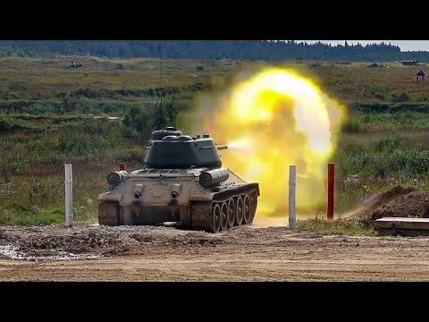 Т-34 85. Стрельбы и занятия по вождению танков в Подмосковье