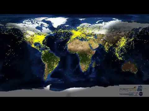 World Air Traffic 24 Hour Period