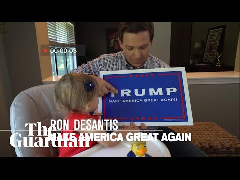 Ron DeSantis has released an ad indoctrinating his children into Trumpism