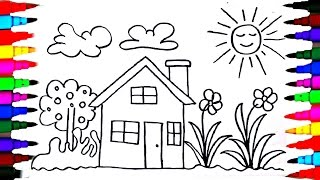 Video How To Draw Kids Playhouse - Learning Coloring Pages - Videos for Children - Learning Colors MP3, 3GP, MP4, WEBM, AVI, FLV Mei 2017