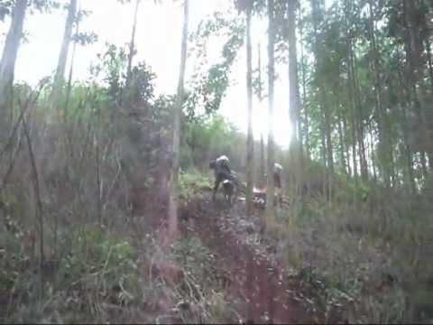 Trilha de moto em Sulina, 27/08/2012.