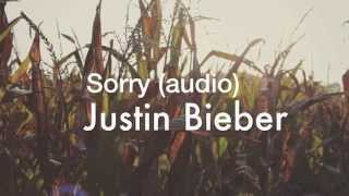 Audio video: Sorry - Justin Bieber (audio)