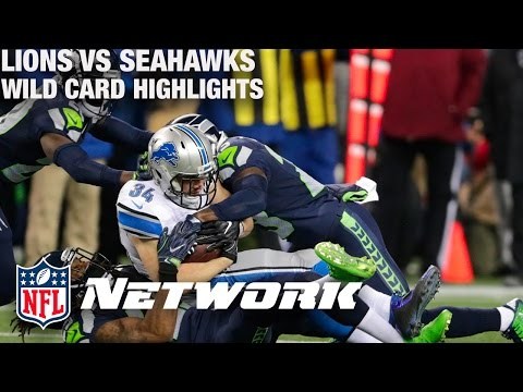 Lions vs. Seahawks Wild Card Game Highlights with Deion Sanders & LT | NFL Network | GameDay Prime (видео)