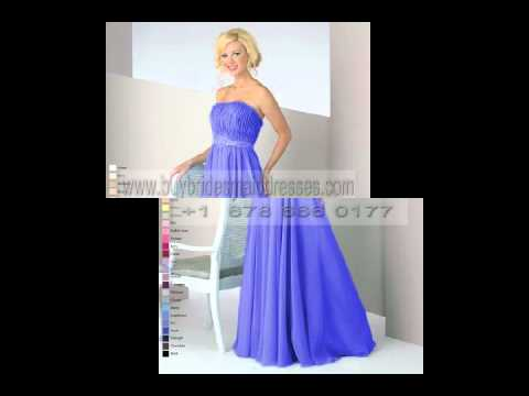 Brand New Sapphire Blue Bridesmaid Gowns2012.223