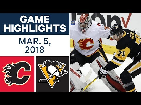 Video: NHL Game Highlights | Flames vs. Penguins - Mar. 05, 2018