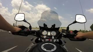 10. Suzuki V-strom 2008 650 ( DL 650 ) VS Honda CB500 2001 pc32 GOPRO HERO