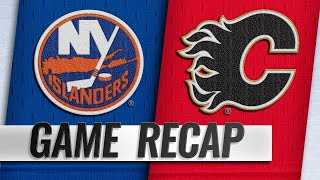 Flames net two quick goals in the 3rd, top Islanders by NHL