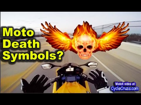 Why Death Symbols on Motorcycle Gear?   Moto Vlog