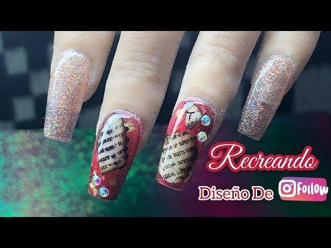 Diseños de uñas - Diseño de uñas en color rojo   Recreando diseño de Instagram