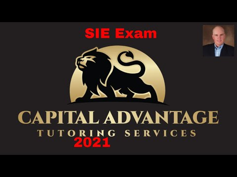 SIE exam prep ( prerequisite for Series 7 top off  exam prep)