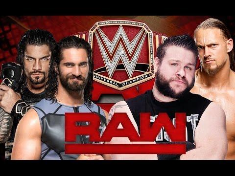 Seth Rollins VS Roman Reings VS Kevin Owens VS Big Cass - WWE UNIVERSAL Title