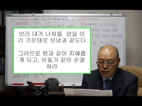 마태복음영해설교10장16-20