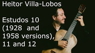 Studies 10 (version 1928), 10 (version 1958), 11 and 12 | Heitor Villa-Lobos