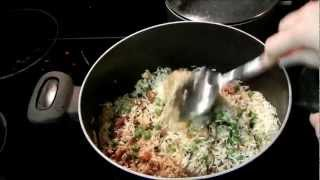 Somali Recipe for Chicken and Vegetable Biryani (Buriyani)