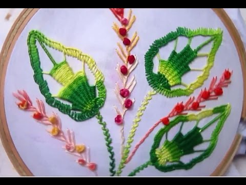 Hand Embroidery Designs | Basic Leaf Tutorial | Stitch And Flower U2013 66 U2013 Hand Embroidery ...