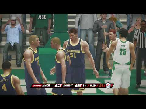 NCAA Basketball 10 Season 2017 2018 Michigan Wolverines vs Michigan State Spartans 01 13 2018
