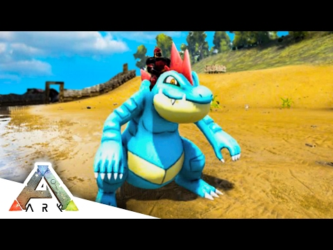 FINDING FERALIGATR! - ARK SURVIVAL EVOLVED POKEMON MOD #22