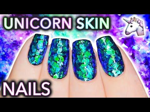 I PEELED THE SKIN OF A UNICORN | Testing magical shifting flakies for nails