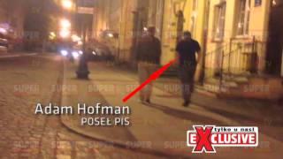 Adam Hofman-pijany poseł PiS