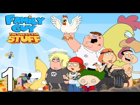 Family Guy: The Quest for Stuff Walkthrough Gameplay Part 1 - Levels 1-2 (iOS Android)
