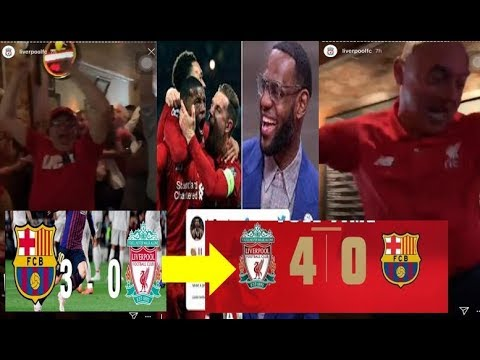 Liverpool vs Barcelona ||  Celebrity and fans Reaction compilation | UCL semifinal