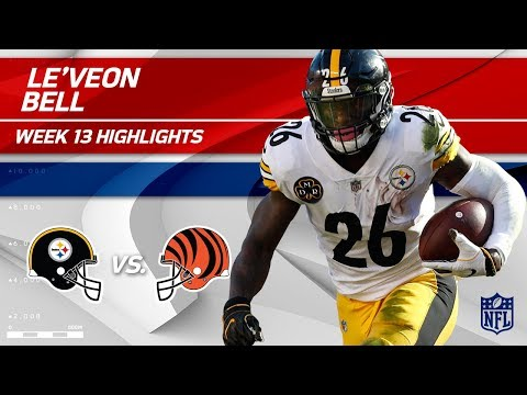 Video: Le'Veon Bell's 182 Total Yards & 1 TD vs. Cincinnati! | Steelers vs. Bengals | Wk 13 Player HLs